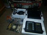 Humminbird LCR 4000 Fish depth finder, Transducer, mounting bracket Cables Box