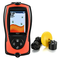 NEW 100M Portable Fish Finder Wired Sonar Sensor Transducer & LCD Display C1H8
