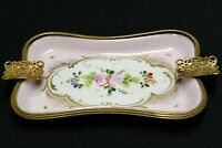 Hand Painted French Porcelain Ashtray Pin Dish