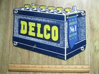 VINTAGE AC DELCO. DRY CHARGE METAL.  BATTERY SIGN 2 Two Sided