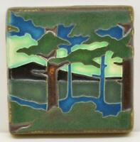Arts and Crafts Motawi 4x4 Pine Landscape Tile (Mountain)