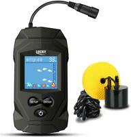 LUCKY Portable Fish Finders Wired Transducer Kayak Kit Depth LCD Display For Ice