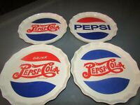 Pepsi-Cola 2006 Heritage Collection Porcelain Bottle Cap Snack Plates - Lot of 4