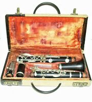Vintage Bb Wood Coudet Paris Clarinet and Case, Old Repair, Needs Reconditioning