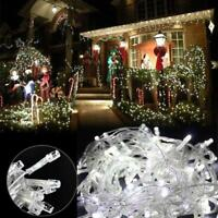 Cool White LED Christmas Tree Decor Fairy String Lights Outdoor Xmas Connectable