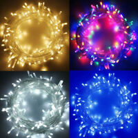 Outdoor Indoor Fairy String Lights 10-1000 LED Christmas Xmas Tree Party US Plug