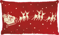 Primitives by Kathy Pillow - Merry Christmas w/ Santa Claus and Flying Reindeer