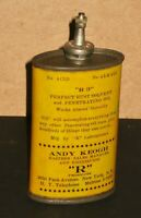 1923 Antique Oil Can Unopened Lead Top R3 Andy Keogh R Products 2650 Park Ave NY