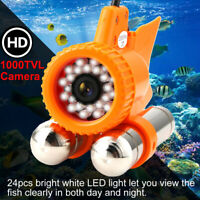 Underwater Fish Finder HD Video Camera 1000TVL 24LED Lights Night View Wateproof