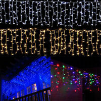 US Christmas Wedding Indoor Outdoor LED Icicle Curtain Lights Decor String Light
