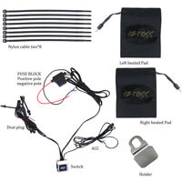 12V Motorcycle ATV Heated Grips Handlebar With Wires Switch Heater fiber