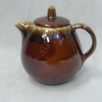 Hull Brown Drip Tea Pot with Lid