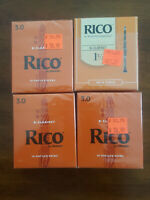 (4) Rico RCA1030 Strength (3) 3.0 & (1) 1/12 Bb Clarinet Reeds - 10-pack