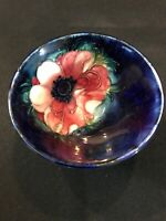 "Vintage Walter MOORCROFT Pottery Anemone Small BOWL Gorgeous Colors 4.5"" Wide"