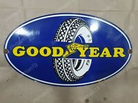 GOODYEAR TIRES VINTAGE PORCELAIN SIGN 24 X 14 INCHES