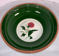 "VINTAGE MID CENTURY LARGE STANGL POTTERY THISTLE  SERVING BOWL 10"" USA"