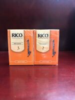 Rico Bass Clarinet Reeds, strengths 2 and 3 variety pack, 2 boxes
