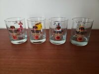 Bacardi Together 150 Years 1962-2012 Limited Edition Set Of 4 Glasses Whiskey