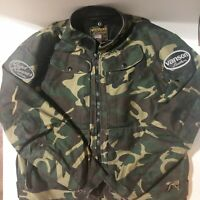 VANSON Leathers JACKET Suzuki Quadrunner Men's XL Motorcycle ATV Camo Camouflage