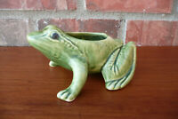Brush McCoy Vintage Green Frog Pottery Planter ~ Great Color !
