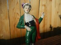 OLD PORCELAIN 18THC CHELSEA FRENCH  FIGURE GENTLEMAN SMOKING CIGAR GOLD ANCHOR