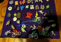 Vintage CRACKER JACK & GUMBALL CHARMS Lot of 75 Devil Bicycles