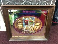 Seagram's Seven Crowns of Sports Collection Bar Mirror NFL S. Baugh D. Hutson
