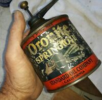 Vintage Standard Oil Spring Oil Lube Can -Oronite-14 Inch Spout
