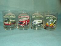 MINT Set of 4 Hess Oil Co Classic Truck Series Glasses  Christmas GIFT QUALITY A