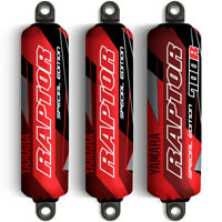 Red & Black Shock Covers Yamaha Raptor YFM 700 R *Special Edition* (Set of 3)
