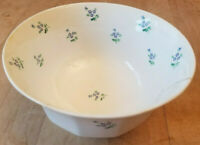 Antique Blue Floral Forget Me Not Ironstone Waste Bowl Tiny Flowers