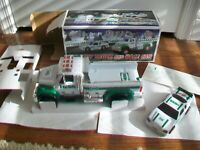 HESS Toy Truck and Race Car 2011 Collectible with Box, Inserts & Instructions