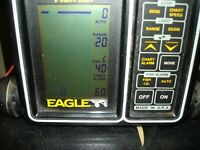 EAGLE FISH ID  FISH DEPTH FINDER no transducer or power cord