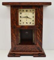 Arts & Crafts Clock Greene Inspired Craftsman Oak for 4x4 Motawi Tile or other