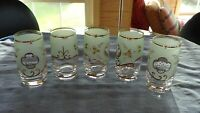 Bohemian Crystal Tumblers Mint Green - Excellent