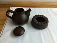 Vintage West German brown teapot with warmer by Bay Keramik