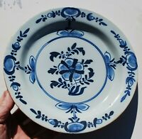 Very early Delft Charger Plate with Kiln Furniture marks