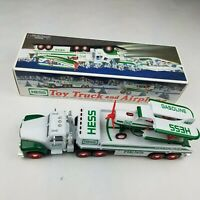 Vintage HESS Toy Truck and airplane 2002. Collectible Perfect with box