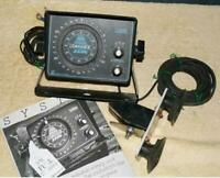 Vintage Lowrance 2330 fish finder ready to hook to battery and go fishing