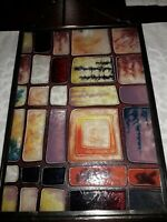 Stained Glass window hanging.Hand made Excellent condition Abstract Very Unique