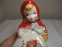 Vintage Hull Pottery Little Red Riding Hood 8.5