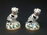 Pair Antique Staffordshire Chelsea Gold Anchor 2 Lot Spotted Dogs