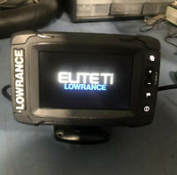 Lowrance Elite-5 TI Touchscreen Fishfinder Used With Power Cable And Mount