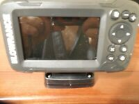 FISH FINDER, LOWRANCE HOOK2, 4, HEAD UNIT & MOUNT ONLY.