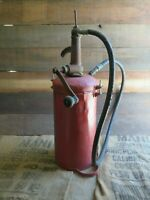 Antique Aro Oil Grease Pump Can Lubster Dispenser Crank Handle Gas Station Red