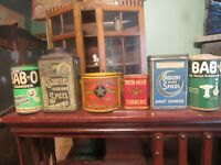 Collection antique tins Babo Full Cleanser Schotten Spice Sugar Butter Tin Other