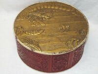 Antique Red /Gold Chinese Asian Dragon Cookie Biscuit Tin Box Container UNIQUE