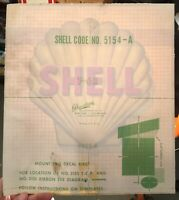 Vintage 1960s NOS SHELL Motor Oil Gas Pump Service Station Decal Sticker Unused