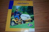 CUB CADET 2000 Series 40th ann.TRACTOR LITERATURE
