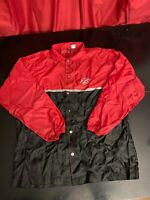 Vintage 90s PIZZA HUT Snap up Windbreaker jacket- Delivery driver uniform LARGE